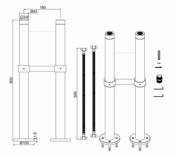 Technical drawing QS-V99042 / W7