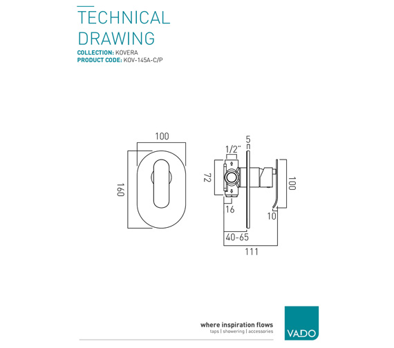Technical drawing QS-V9437 / KOV-145A-C/P