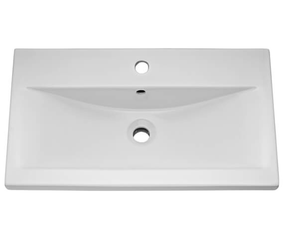Additional image of Hudson Reed 1 Tap Hole Mid Edged Basin