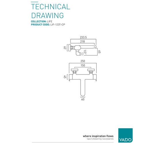 Technical drawing QS-V9438 / LIF-123T-C/P