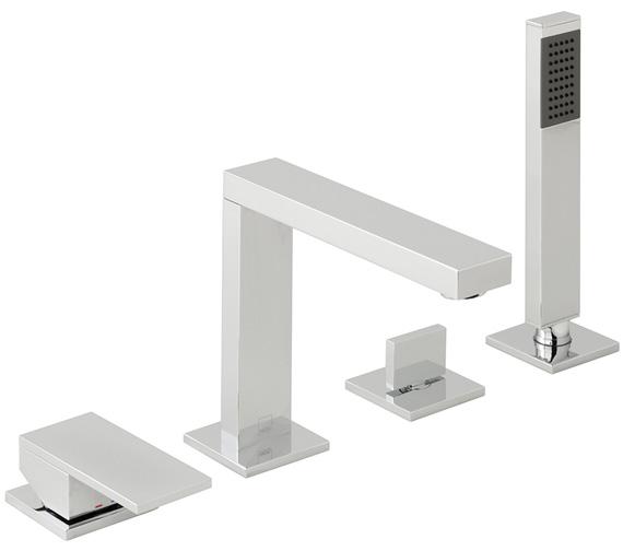 Vado Notion 3 Hole Bath Shower Mixer With Spout