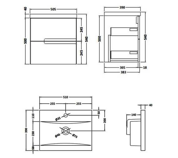 Technical drawing QS-V90077 / URB514E
