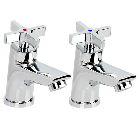 Bristan Vantage Pair Of Cross Head Easy Fit Basin Taps - VTX 1/2 C