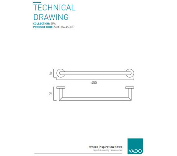 Technical drawing QS-V9404 / SPA-184-45-C/P