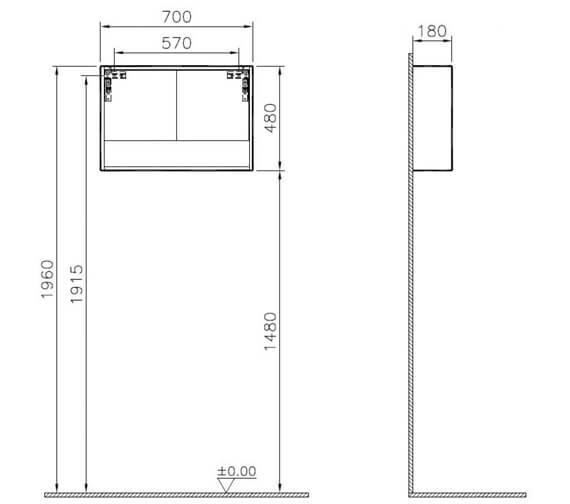 Technical drawing QS-V90810 / 62026