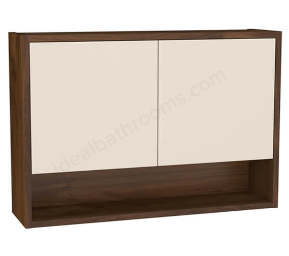 Additional image of VitrA Integra 700mm Wall Mounted 2 Door Unit With Open shelf