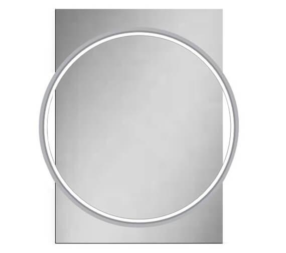 Additional image of HiB Solas 50 LED Illuminated 500 x 700mm Elegant Circular Mirror With Chrome Frame