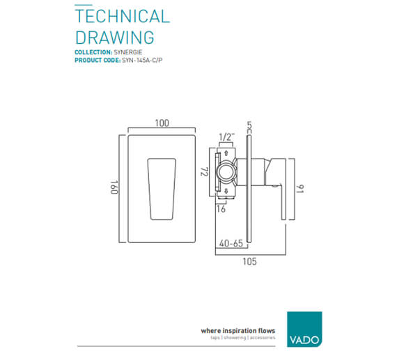 Technical drawing QS-V37037 / SYN-145A-C/P