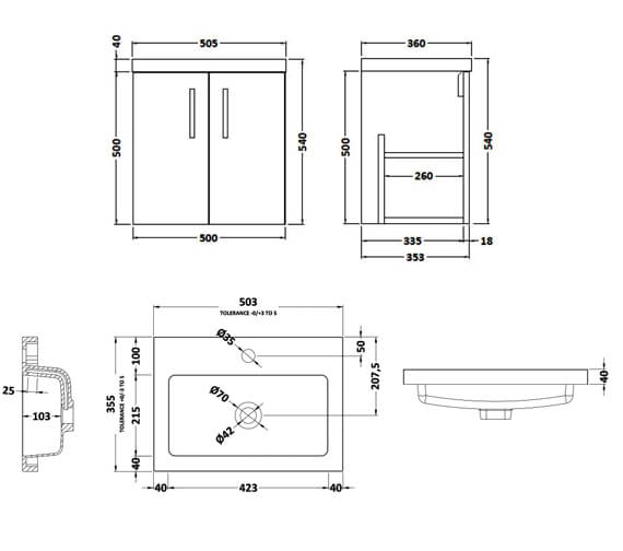 Technical drawing QS-V90012 / APL434