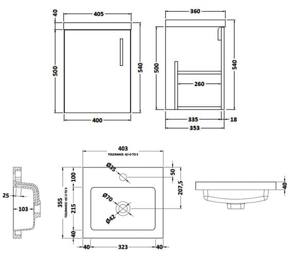 Technical drawing QS-V90008 / APL732