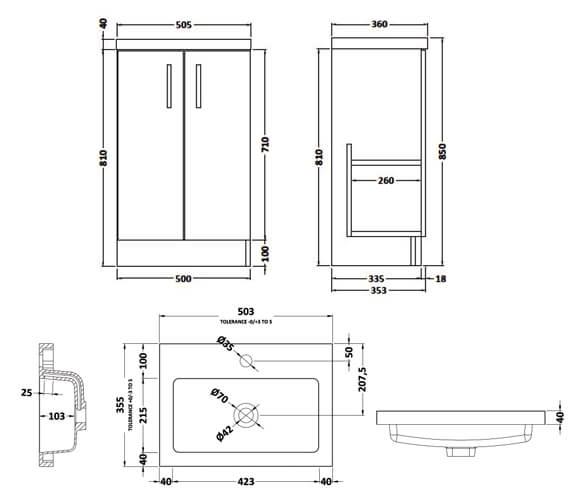 Technical drawing QS-V81998 / APL424
