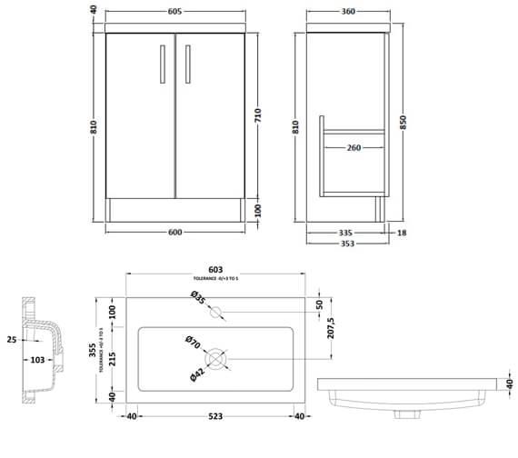 Alternate image of Hudson Reed Apollo Floorstanding 2 Door Full Depth Cabinet And Basin