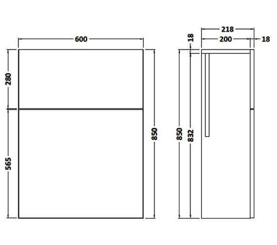 Technical drawing QS-V90020 / FMA746C