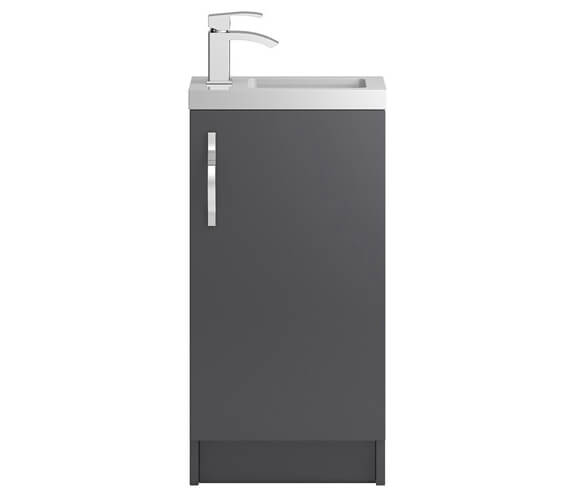 Hudson Reed Apollo Slimline 400 x 360mm Floorstanding Compact Cabinet And Basin