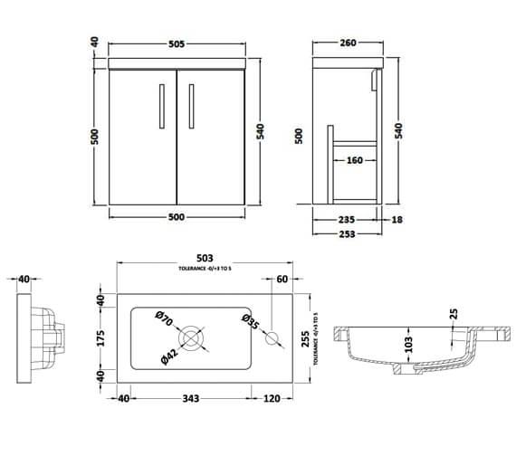 Technical drawing QS-V90014 / APL434C