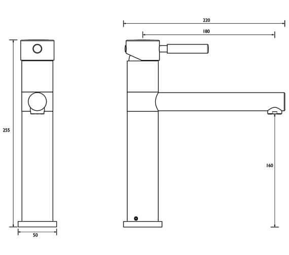 Technical drawing QS-V7766 / VG SNK EF C