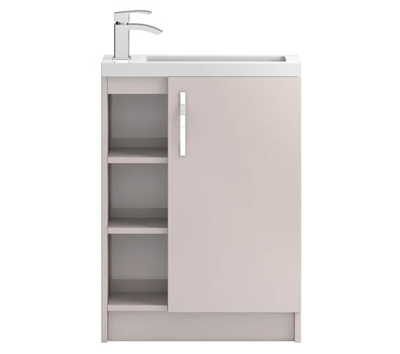Additional image of Hudson Reed Apollo Slimline 600 x 360mm Open Shelves Compact Cabinet And Basin