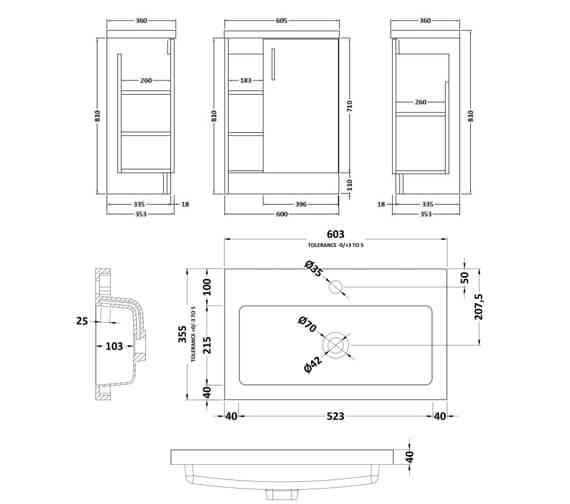 Technical drawing QS-V90024 / APL476