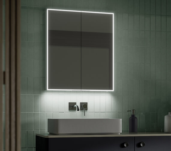 HiB Exos 60 LED illuminated Double Door Aluminium Cabinet