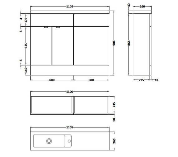 Technical drawing QS-V90116 / CBI101