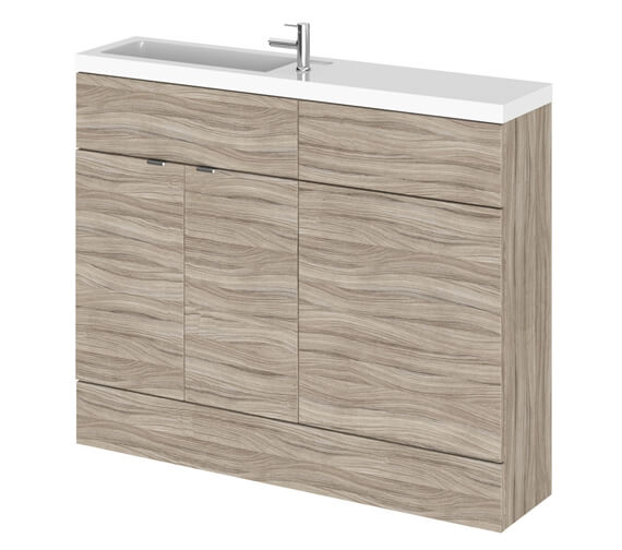 Additional image of Hudson Reed Fusion 1100mm Compact Furniture Pack - Vanity And WC Unit With Basin