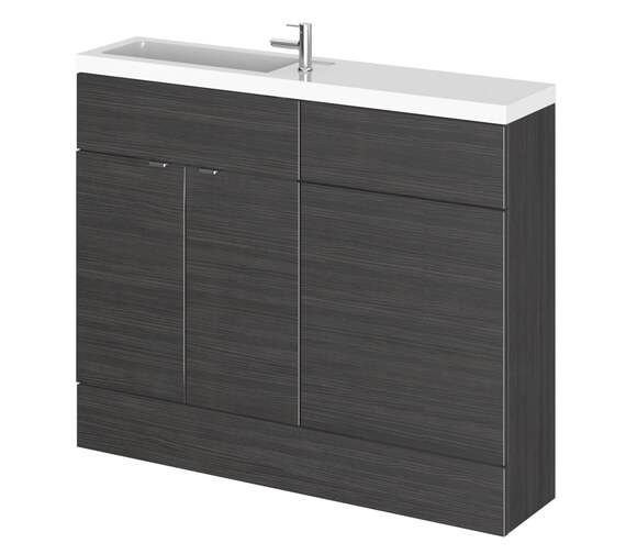 Alternate image of Hudson Reed Fusion 1100mm Compact Furniture Pack - Vanity And WC Unit With Basin