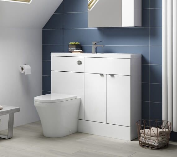 Hudson Reed Fusion 1100mm Compact Furniture Pack - Vanity And WC Unit With Basin