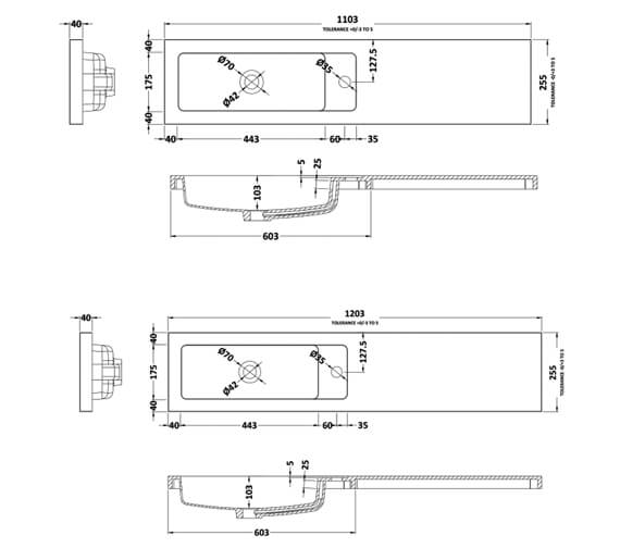 Technical drawing QS-V90197 / PMB403