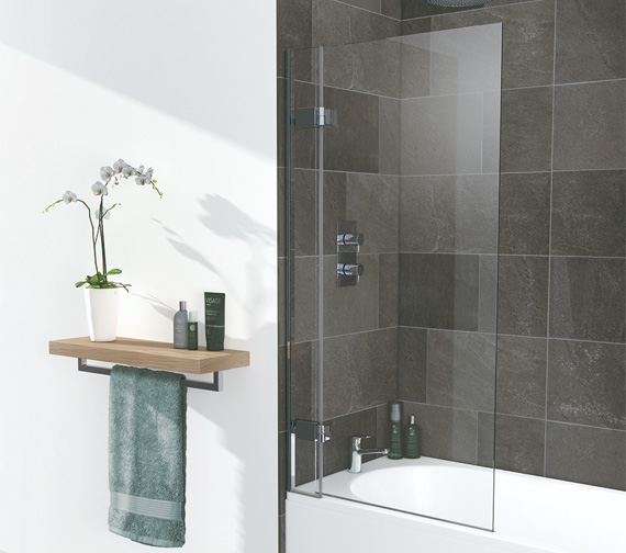 Lakes Island 8mm Hinged Bath Screen