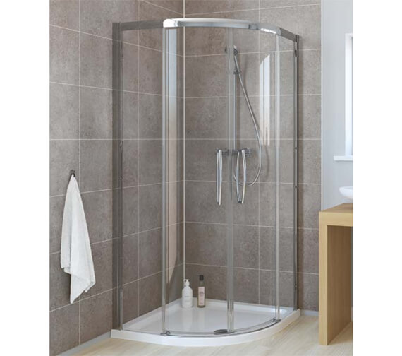 Lakes Classic Low Threshold Double Door Left-Hand Offset Quadrant Enclosure 900 x 800mm