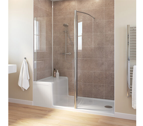 Lakes Classic 1500 x 800mm Walk-in Shower Enclosure With Seated Shower Tray