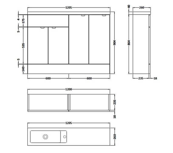 Technical drawing QS-V90160 / CBI125