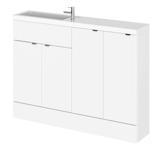 Hudson Reed Fusion 1200mm Compact Furniture Pack - Vanity And 2 Base Unit With Basin