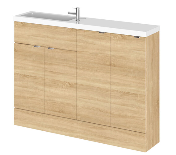 Additional image of Hudson Reed Fusion 1200mm Compact Furniture Pack - Vanity And 2 Base Unit With Basin