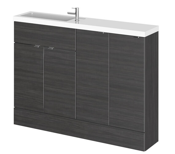 Alternate image of Hudson Reed Fusion 1200mm Compact Furniture Pack - Vanity And 2 Base Unit With Basin