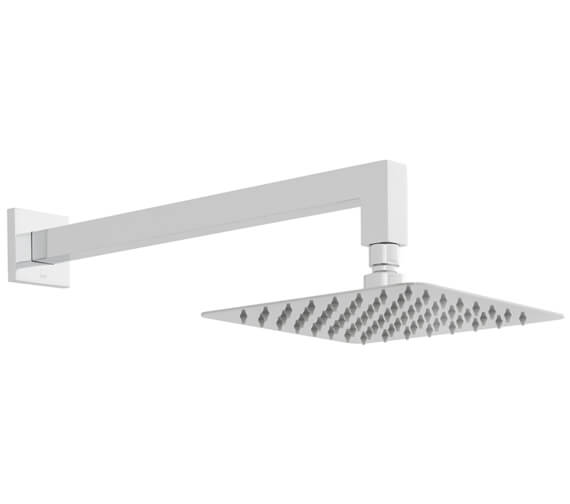 Vado Aquablade Single Function Square Shower Head With Shower Arm