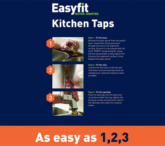 Additional image of Bristan Sentinel Kitchen Sink Mixer Tap With EasyFit Base