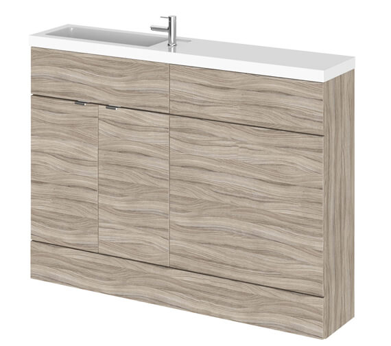 Additional image of Hudson Reed Fusion 1200mm Compact Furniture Pack - Vanity And WC Unit With Basin