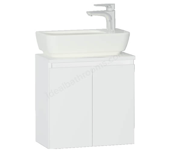 VitrA Shift 500mm Wall Hung 2 Door Vanity Unit With Basin
