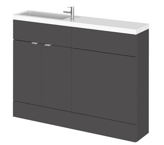 Alternate image of Hudson Reed Fusion 1200mm Compact Furniture Pack - Vanity And WC Unit With Basin
