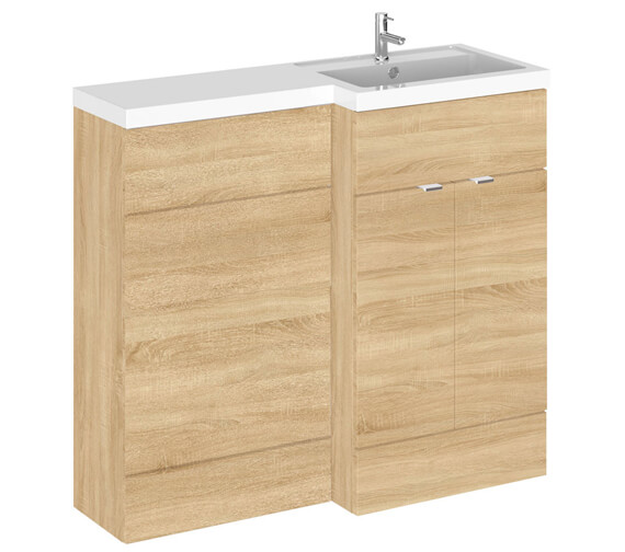 Alternate image of Hudson Reed Fusion 1000mm Full Depth Furniture Pack - Vanity And Wc Unit With Basin