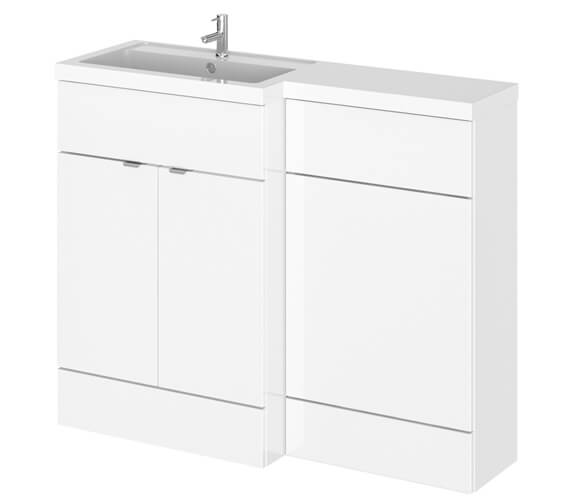 Hudson Reed Fusion 1100mm Full Depth Furniture Pack - Vanity And Wc Unit With Basin