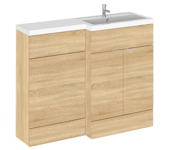 Alternate image of Hudson Reed Fusion 1100mm Full Depth Furniture Pack - Vanity And Wc Unit With Basin