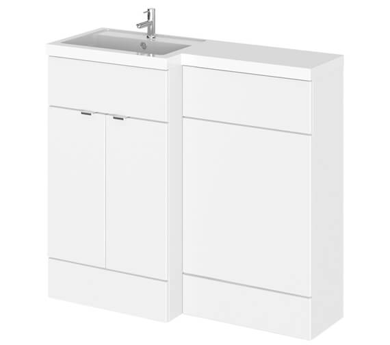 Hudson Reed Fusion 1000mm Full Depth Furniture Pack - Vanity And Wc Unit With Basin