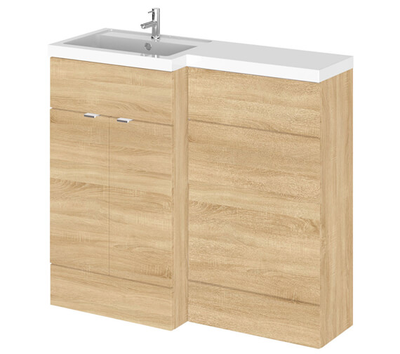 Additional image of Hudson Reed Fusion 1000mm Full Depth Furniture Pack - Vanity And Wc Unit With Basin