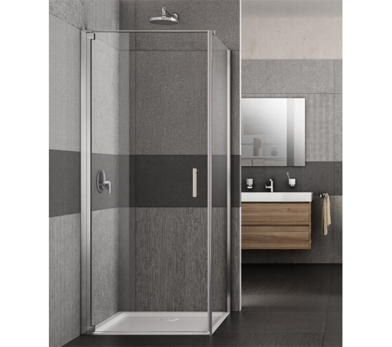 Lakes Italia Vivo 700mm Semi-Frameless Left-Hand Pivot Door With Optional Side Panel