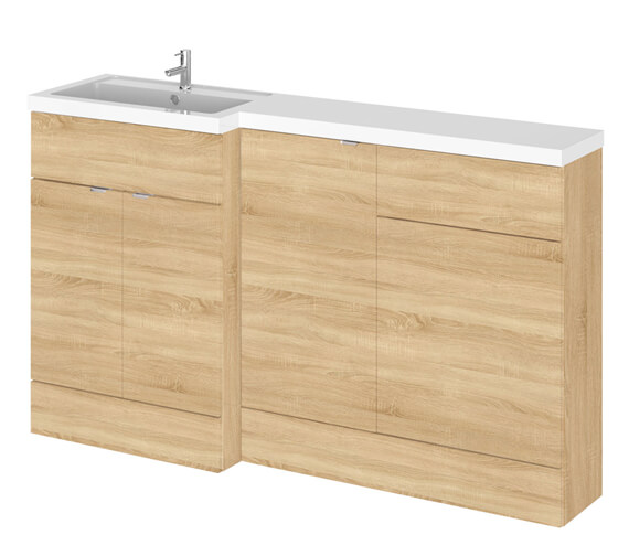 Additional image of Hudson Reed Fusion 1500mm Furniture Pack - Vanity Unit-Base Unit-Wc Unit With Basin