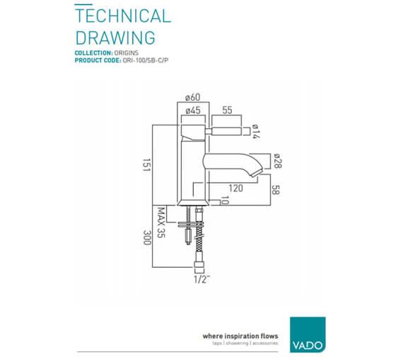 Technical drawing QS-V58632 / ORI-100/SB-C/P