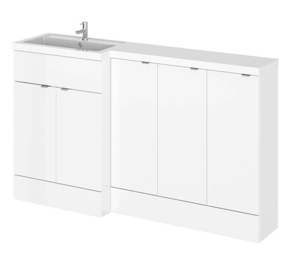 Hudson Reed Fusion 1500mm Full Depth Furniture Pack - Vanity With 3 Base Unit And Basin
