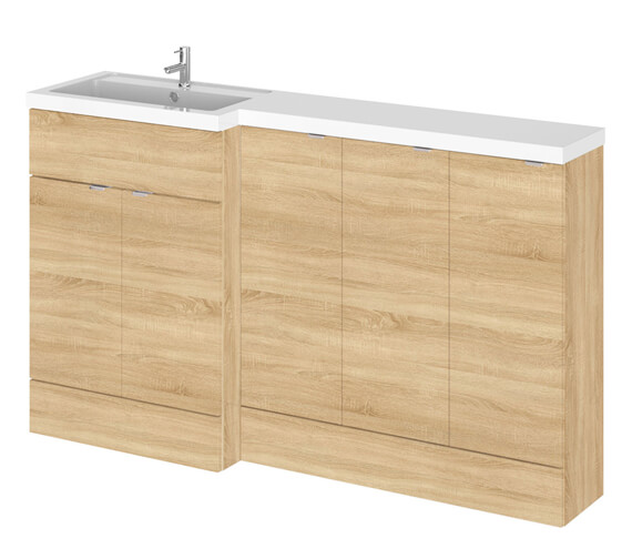 Additional image of Hudson Reed Fusion 1500mm Full Depth Furniture Pack - Vanity With 3 Base Unit And Basin